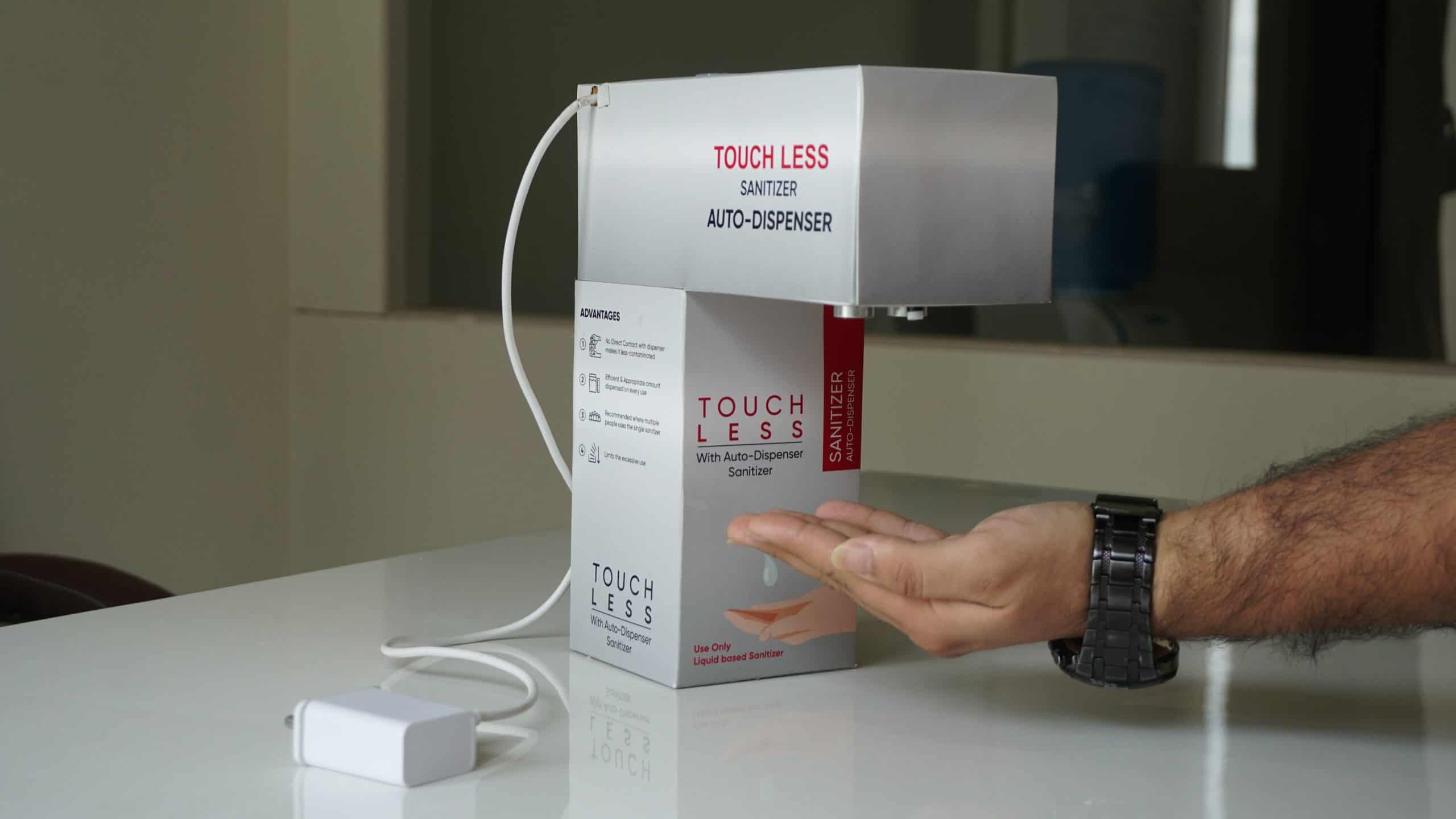 Covid19 Without Branding Touch Less Automatic Hand Sanitizer Dispatcher 1000 Ml Capacity Made In India Liquid Base Phlipton Automation Solutions Provider Company